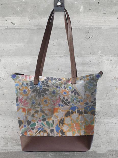 Gaudi Tile Statement Bag