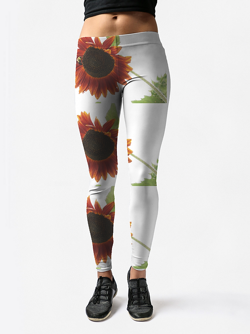 Red Sunflower Leggings