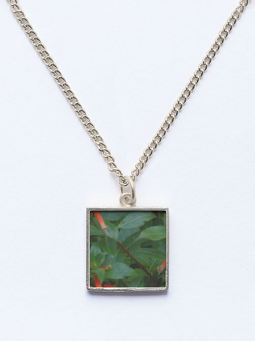 Flowers and Leaves Beveled Pendant