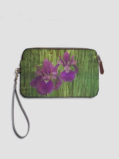 Iris Leather Clutch