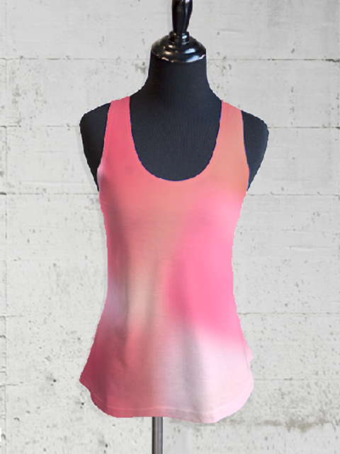 Fuzzy Pink Racer Back T