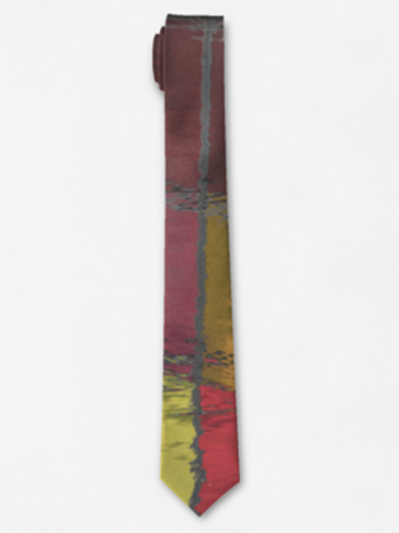 Red Reflection Tie
