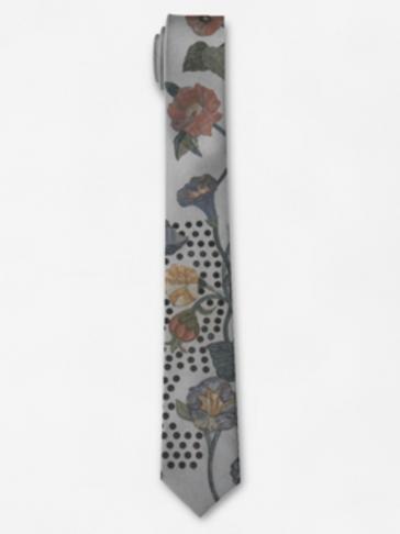 Marble Flowers Tie