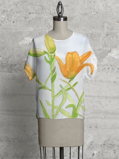 Hand Painted Water Color Day Lily