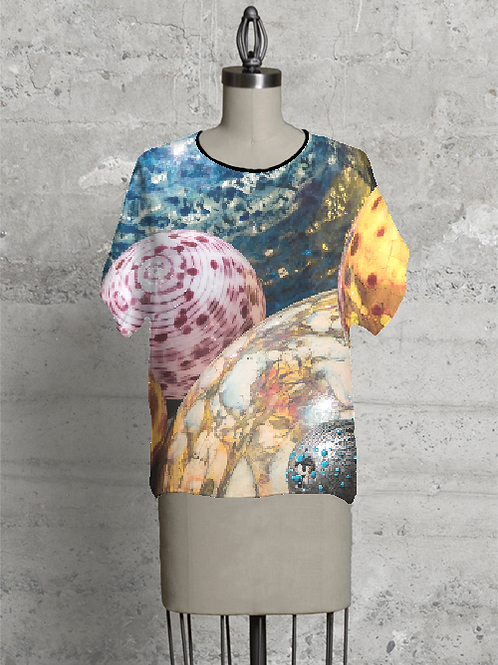 Tee Shirt - Multi Colored Glass Balls