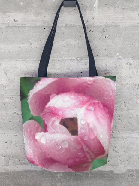 Rose with Dew Tote