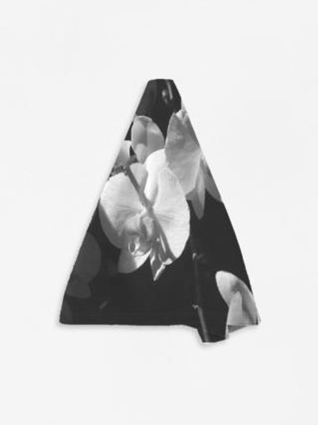 Black and White Orchid Napkin