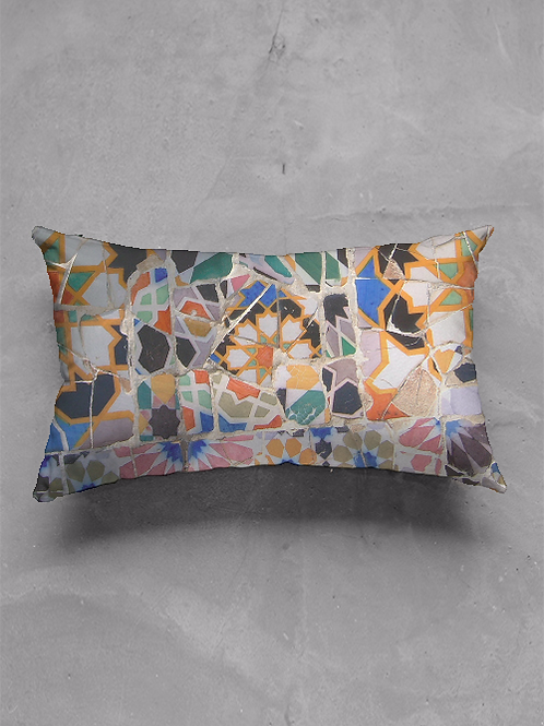 Gaudi Tile Oblong Pillow