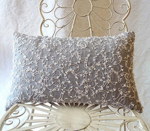 Kissenbezug Stickerei - Silber 30x50