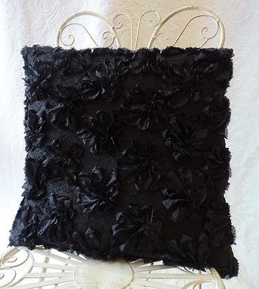 Kissenbezug Rosen schwarz 50x50
