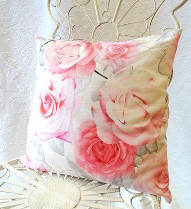 Kissenbezug Rosen Pastell 40x40