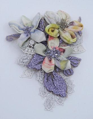Brosche lila pastell