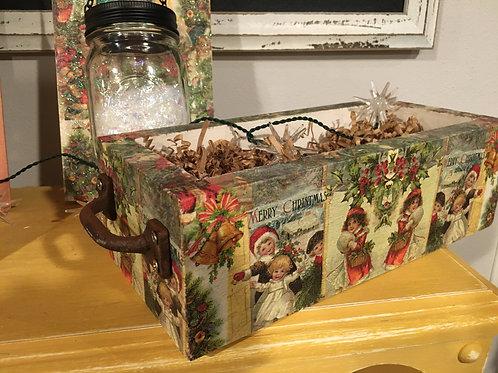 Wooden Christmas box