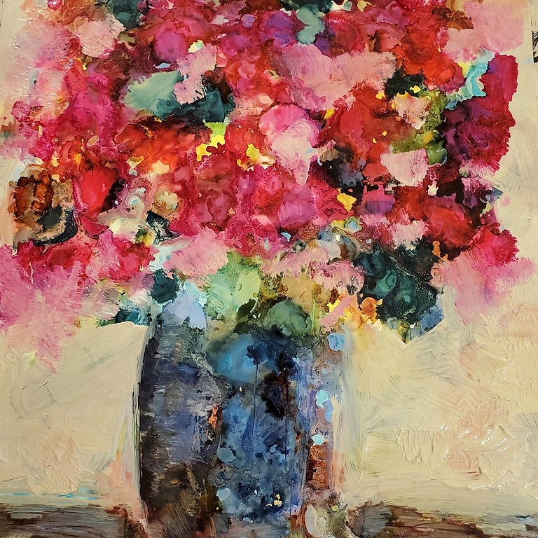 Alcohol Ink & Acrylic Bouquets