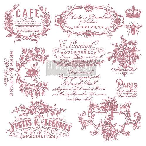 Decor Stamps - Handwritten Note 12 x 12