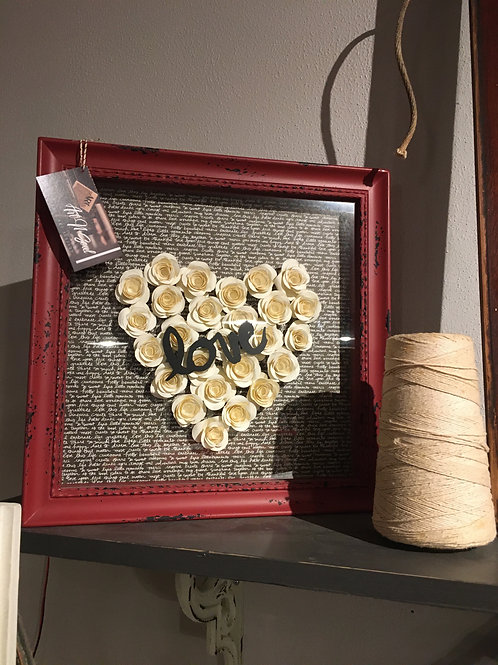 Love heart shadow box