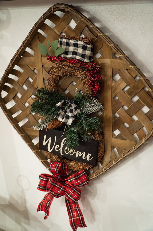 Holiday Welcome Basket Art