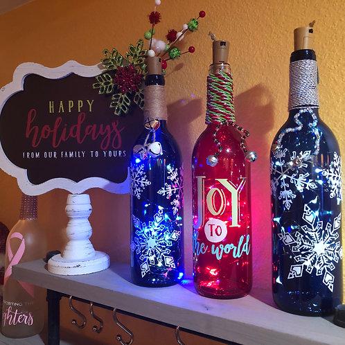 Decorative Holiday Wine Bottles