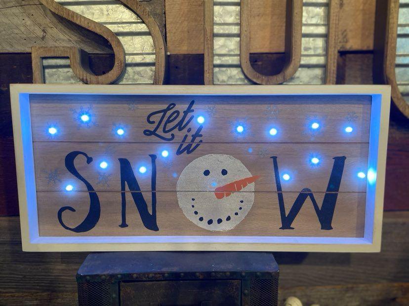 Light Up Snowman Sign