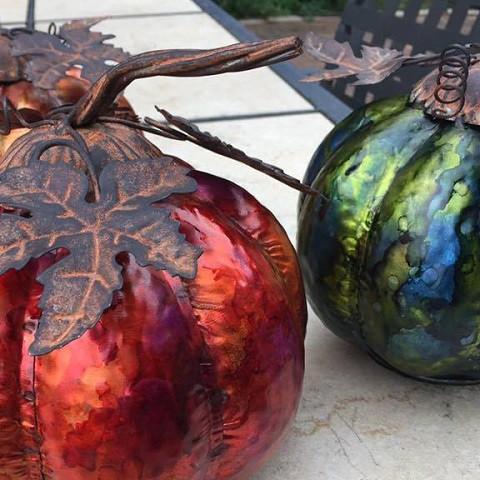Alcohol Ink Metal Pumpkin