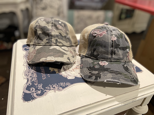 Hats - Floral Camouflage