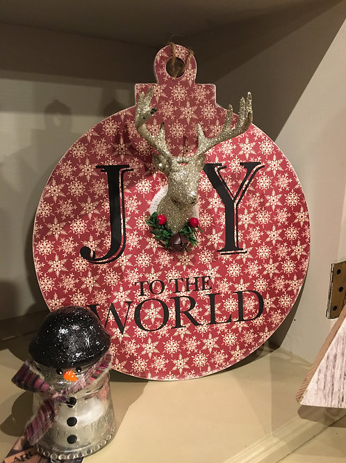 Joy to the World giant ornament