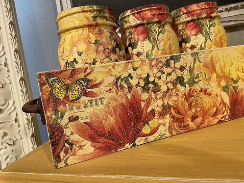 Floral Box & Jar Set