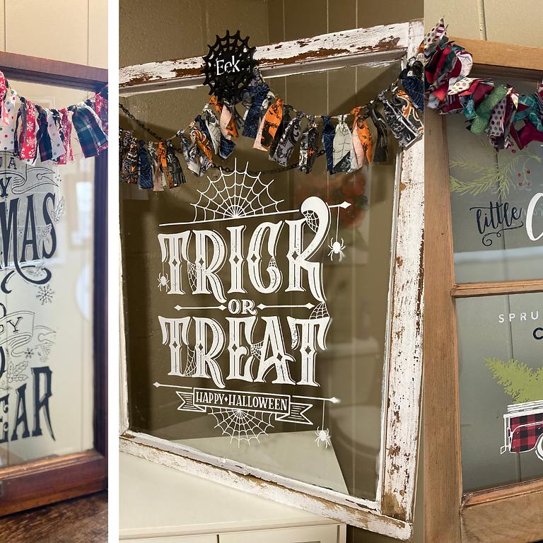 Halloween/Christmas Windows
