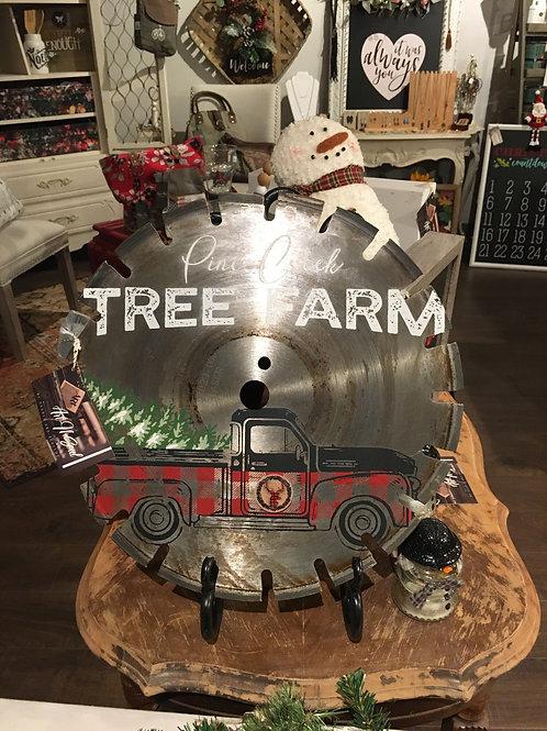 Tree farm saw art