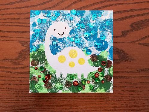 Kids Craft Kit: Deeno the Dinosaur Canvas Paint Kit