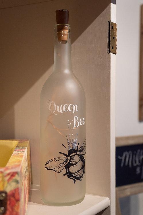 Queen Bee wine bottle
