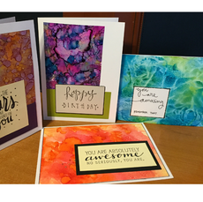 Inspirational Cards with Alcohol Ink