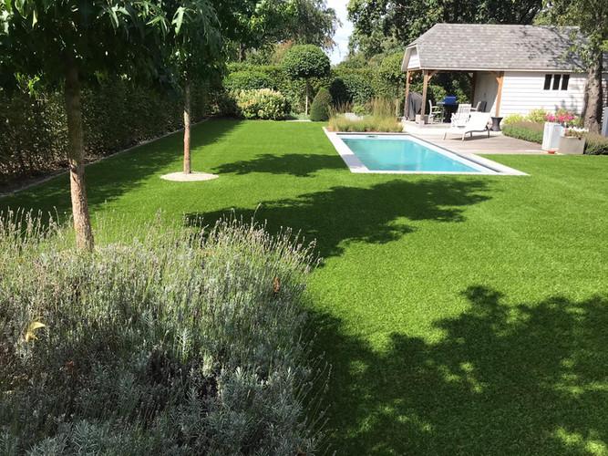 Particuliere tuin met zwembad