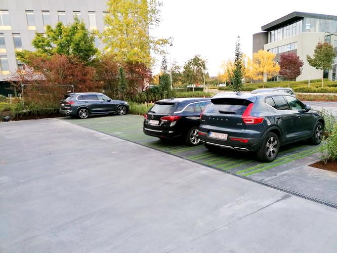 Aanleg kunstgras op openbare parking