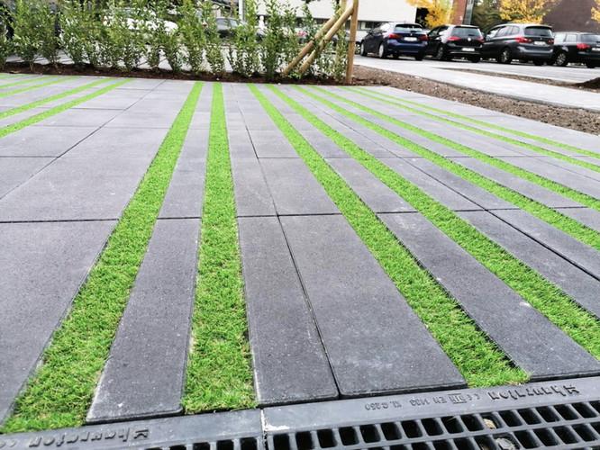 Aanleg kunstgras openbare parking