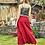 Thumbnail: Otantik Cep Detaylı Şalvar Pantolon Kırmızı
