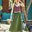 Thumbnail: Otantik Cep Detaylı Şalvar Pantolon Yeşil