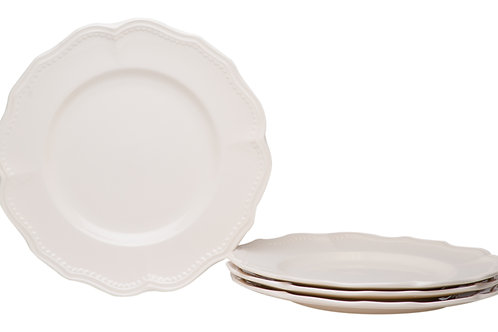 Classic White Dinner Plates Set/4