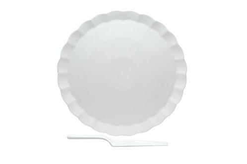 Vanilla Fare Cake Plate w/Server