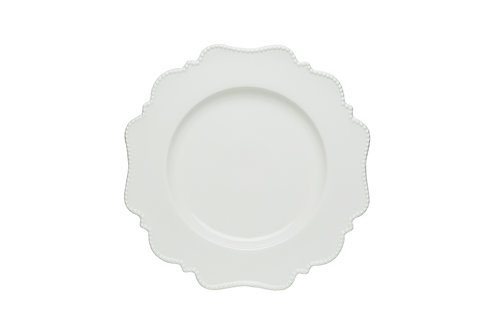 Pinpoint White Salad Plate