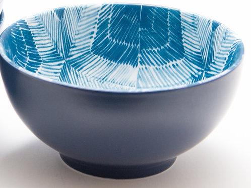 Linear Blue Cereal / Pasta Bowl 30oz
