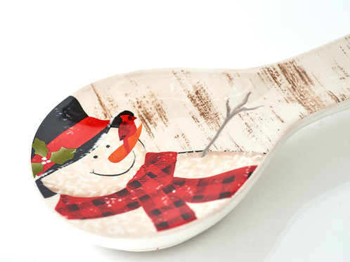Frosty's Magical Christmas Spoon Rest