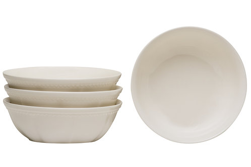 Classic White Cereal/Soup Bowl 30oz Set/4