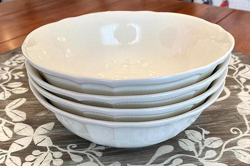 Antique White Coupe Bowl 32oz Set/4