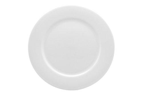 Pure Vanilla Rimmed Dinner Plate