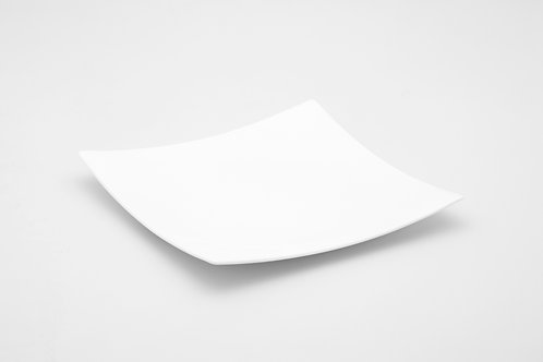 """Extreme White Square Dinner Plate 10"""""""