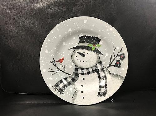 Christmas Snowmen Salad Plates Set/4