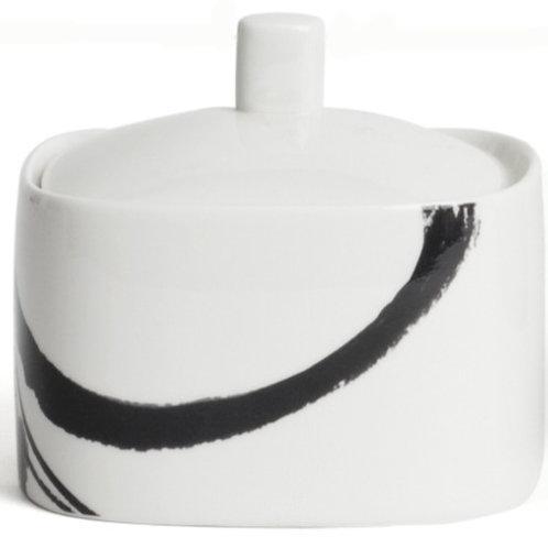 Paint It Black Covered Sugar Bowl