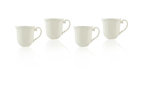 Antique White Mugs 16oz Set/4