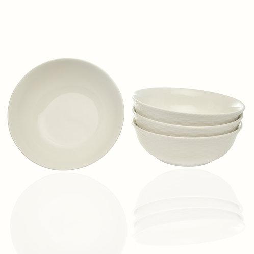 Nantucket White Cereal/Soup Bowl 30oz Set/4